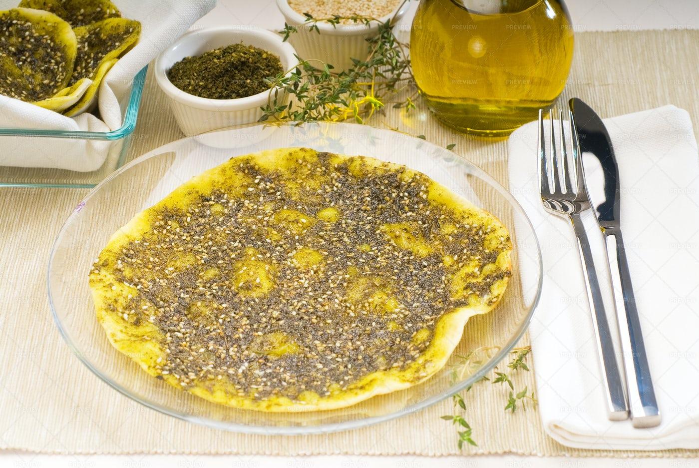 Lebanese Manouche: Stock Photos