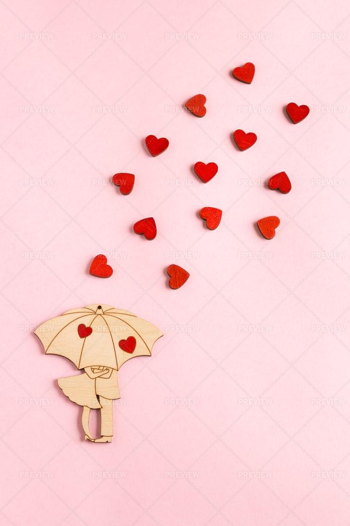 Wooden Love Figure: Stock Photos