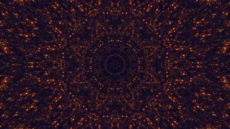 Gold Particle Kaleidoscope: Stock Motion Graphics