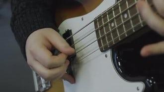 Bass Guitar Playing: Stock Video