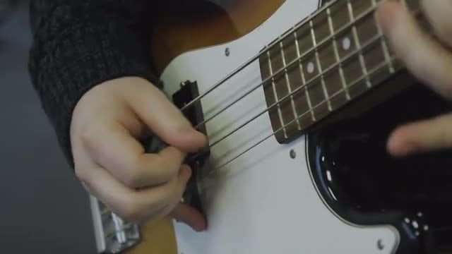 Bass Guitar Playing: Stock Video