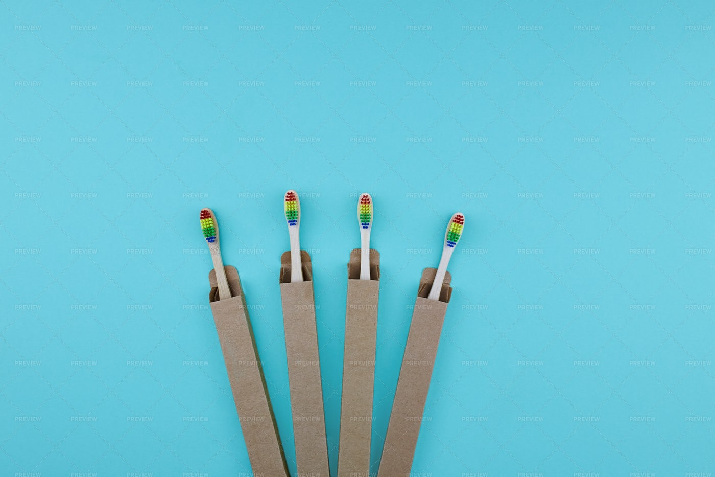 ECO Friendly Bamboo Toothbrushes: Stock Photos