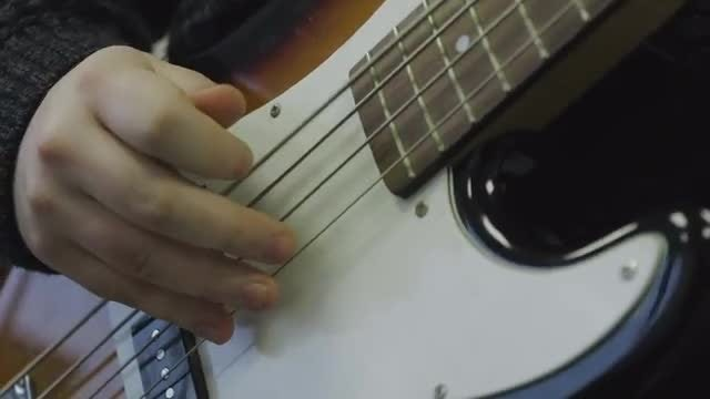 Bass Guitar Plucking: Stock Video