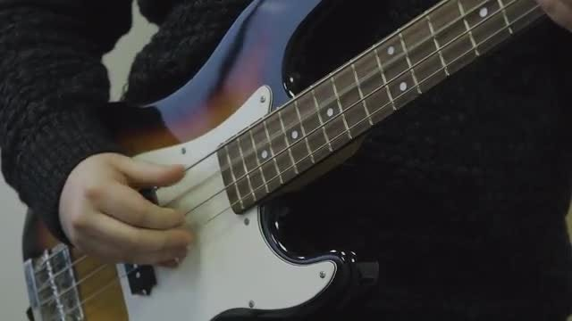 Man Playing The Bass Guitar : Stock Video
