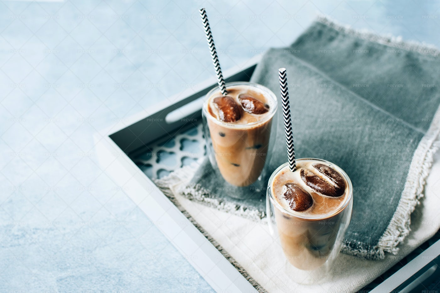 Iced Cappuccino Coffee: Stock Photos