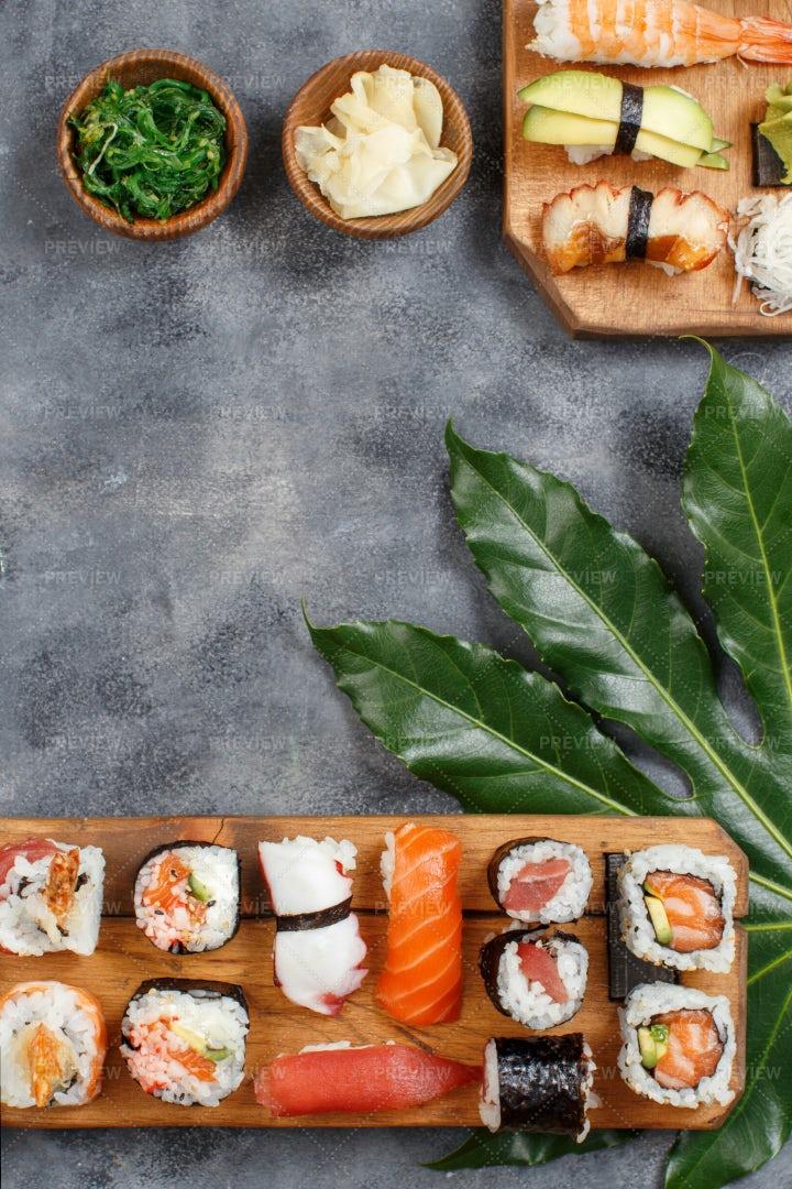A Sushi Set: Stock Photos