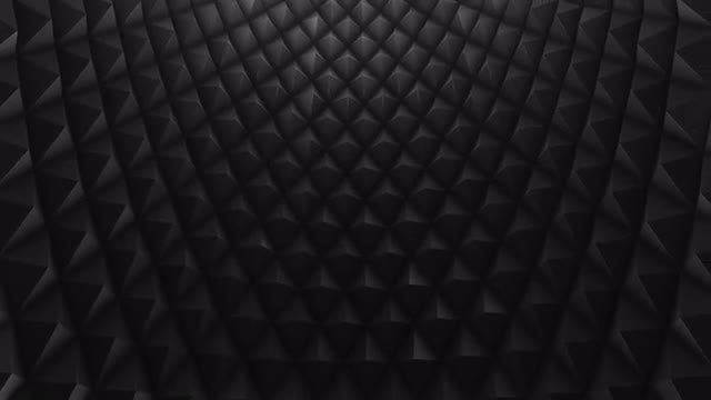 Black Rhombic Wall Looping Background: Stock Motion Graphics