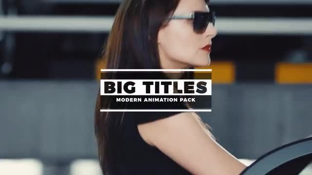 BIG Titles: Motion Graphics Templates