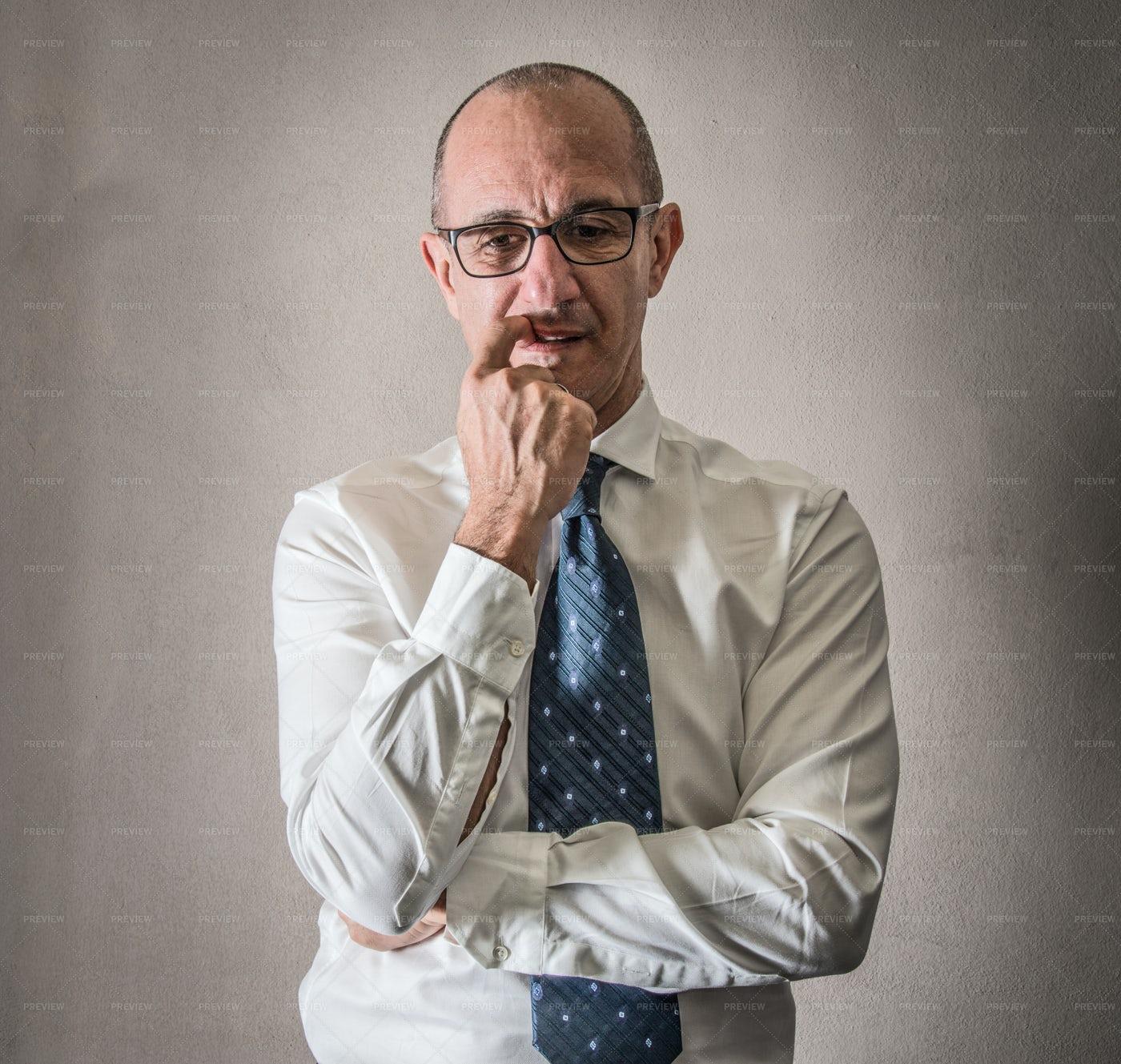 Man Having Doubts: Stock Photos