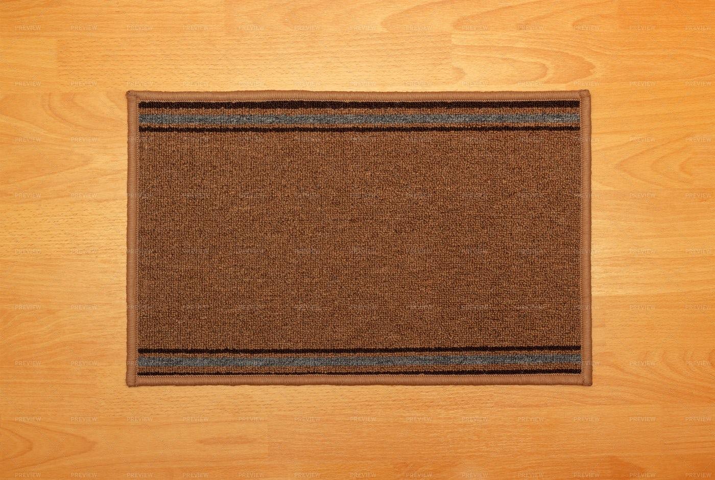 Rectangle Carpet On Floor: Stock Photos
