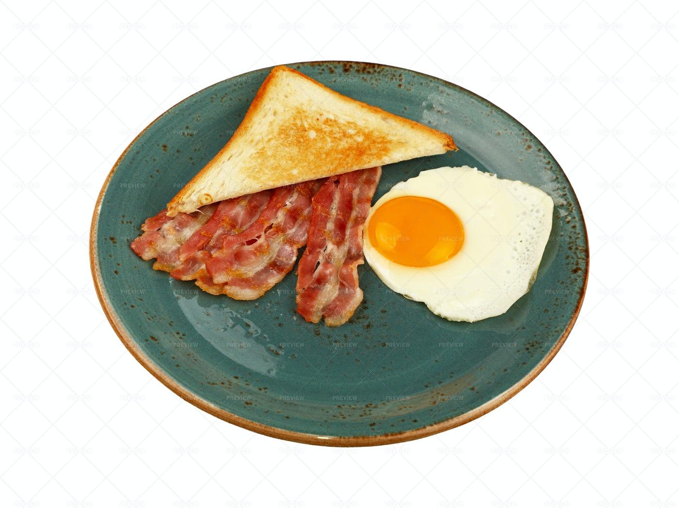 Egg, Toast And Bacon: Stock Photos