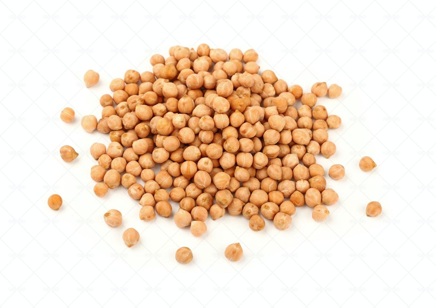 Heap Of Chickpea Beans: Stock Photos