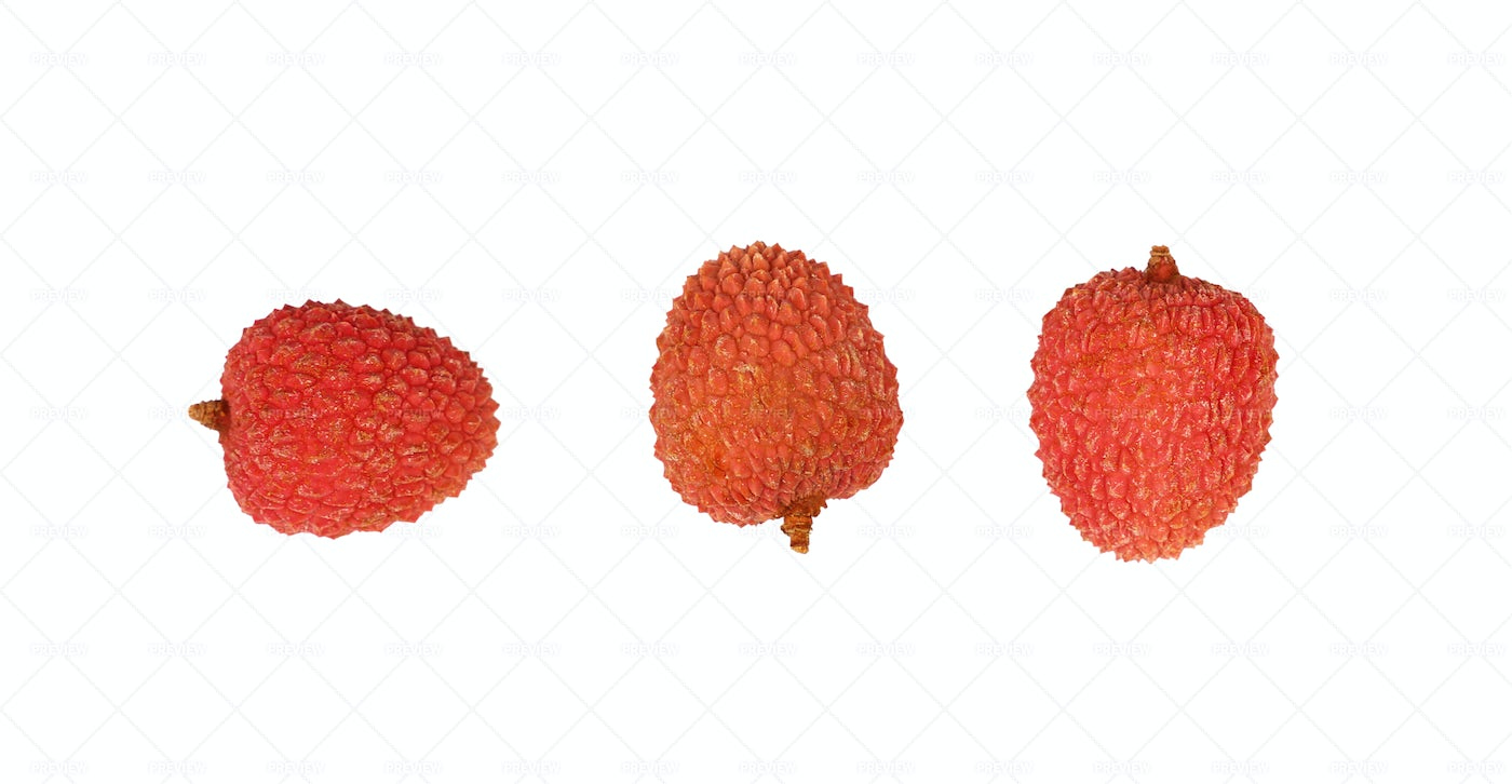 Fresh Red Lychee: Stock Photos