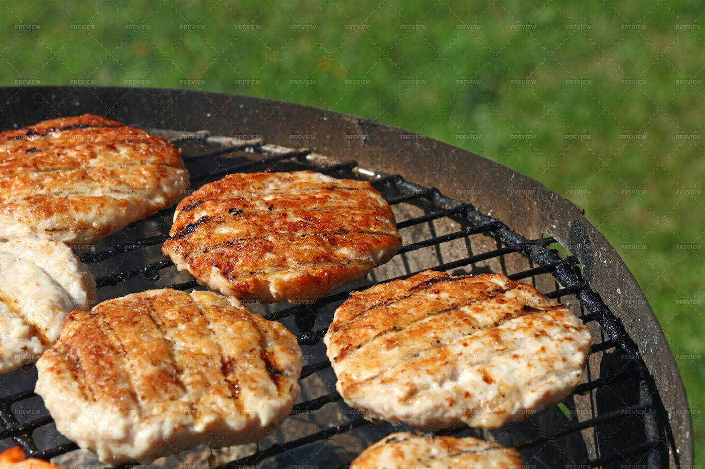Poultry Burgers: Stock Photos
