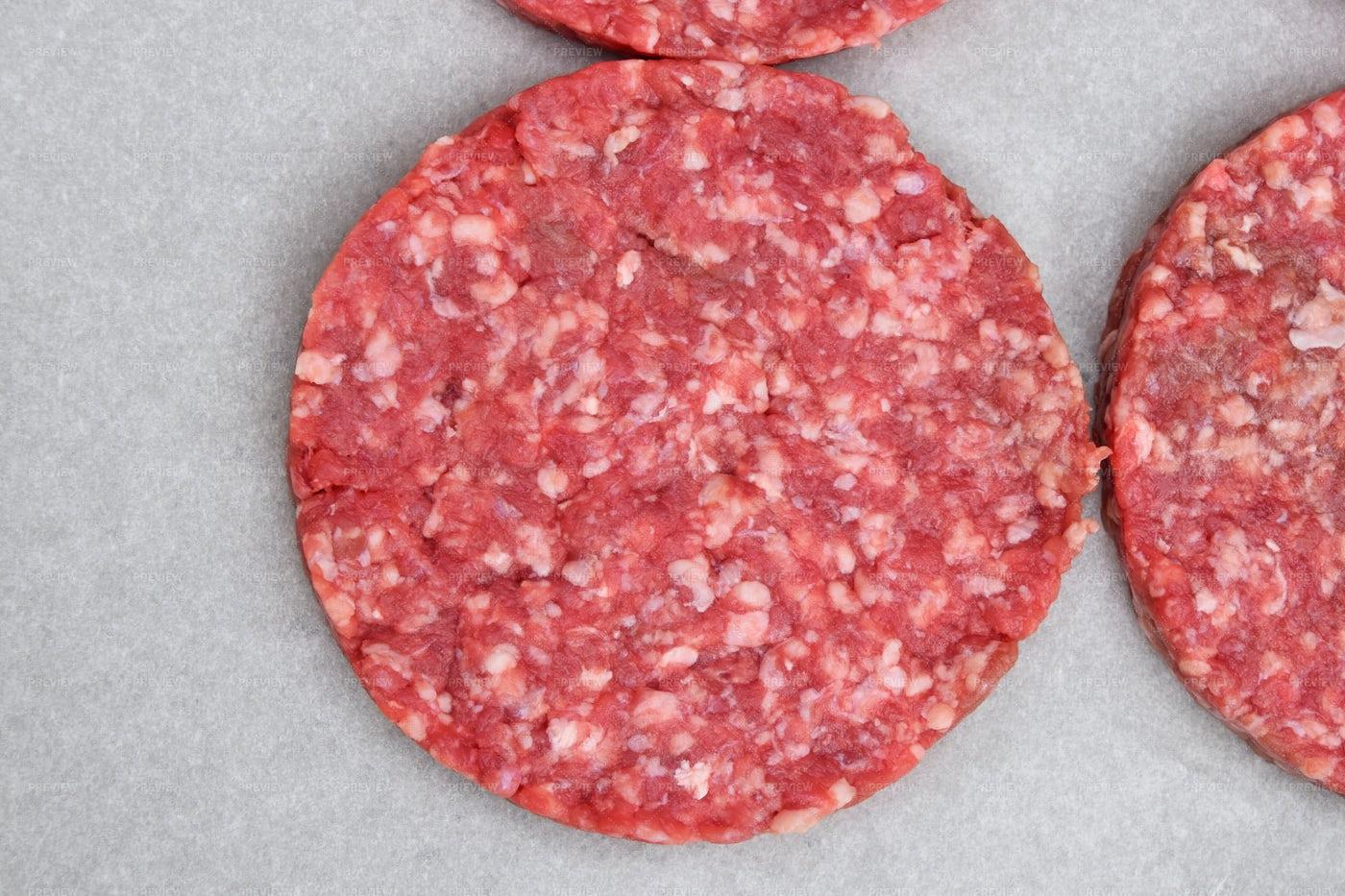 Raw Meat Burgers: Stock Photos