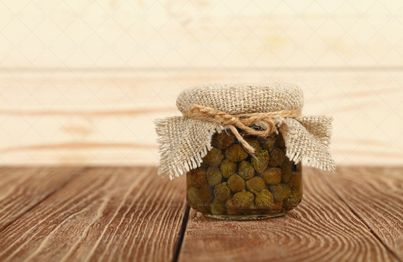 Jar Of Pickled Capers: Stock Photos