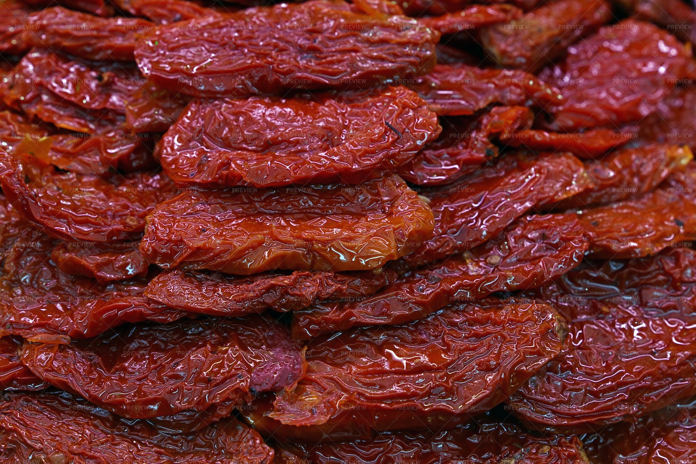 Sundried Red Tomatoes: Stock Photos