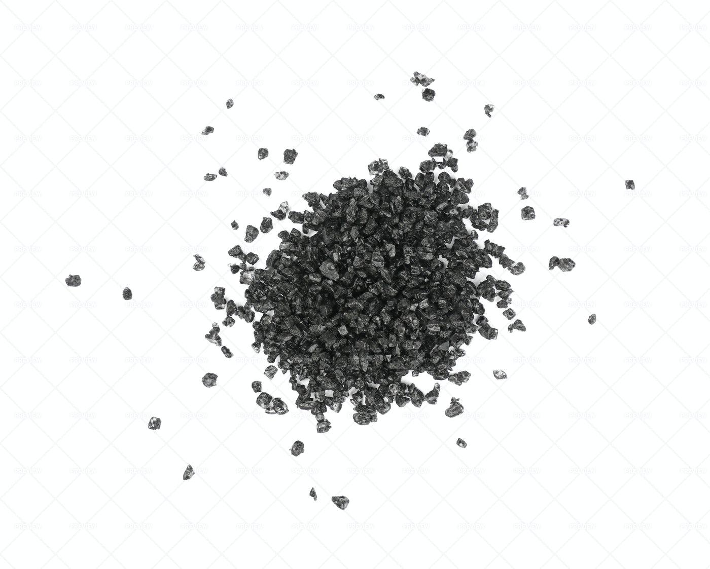 Black Hawaiian Salt Heap: Stock Photos