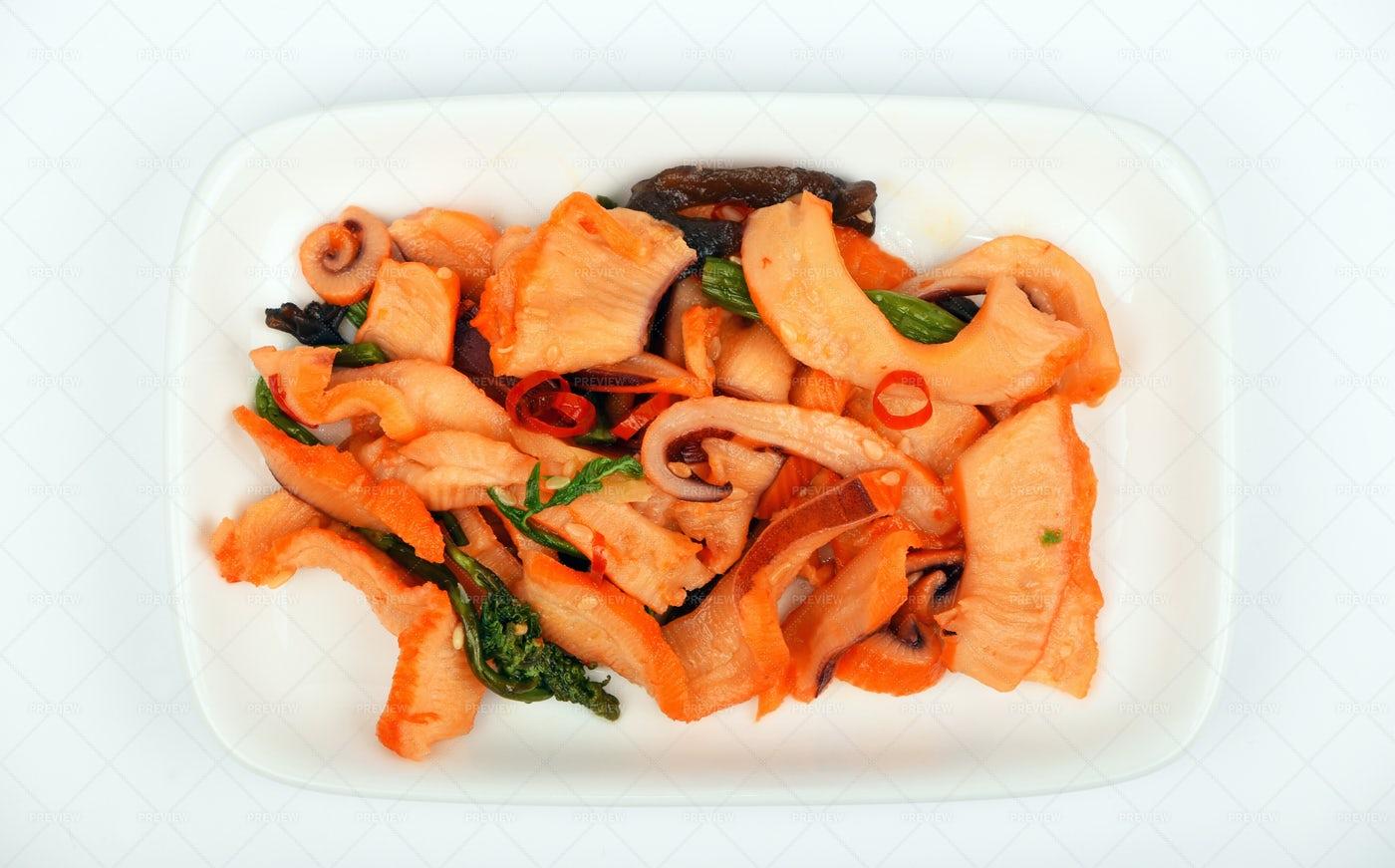 Seafood Squid Salad: Stock Photos