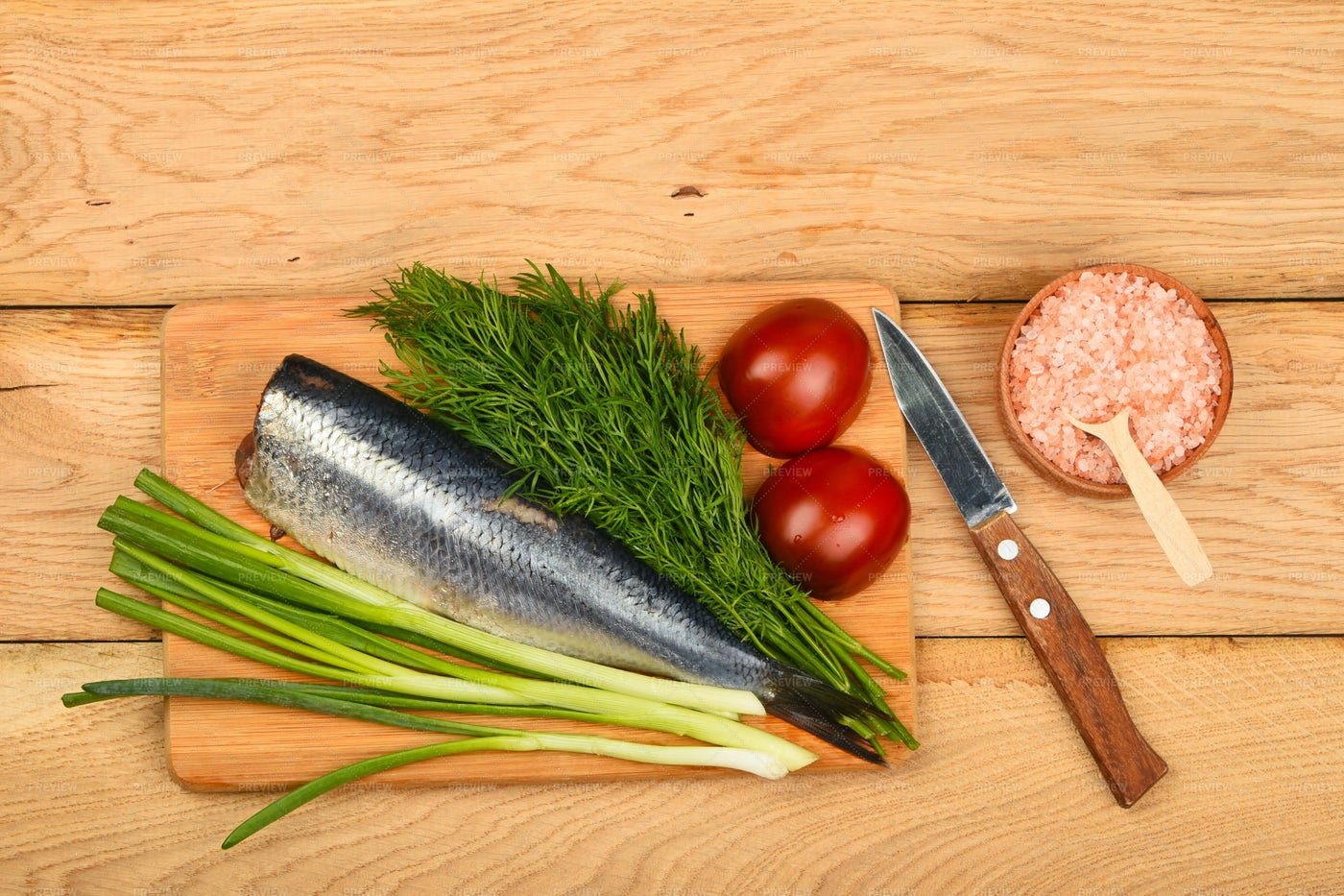 Herring Fillet With Vegetables: Stock Photos