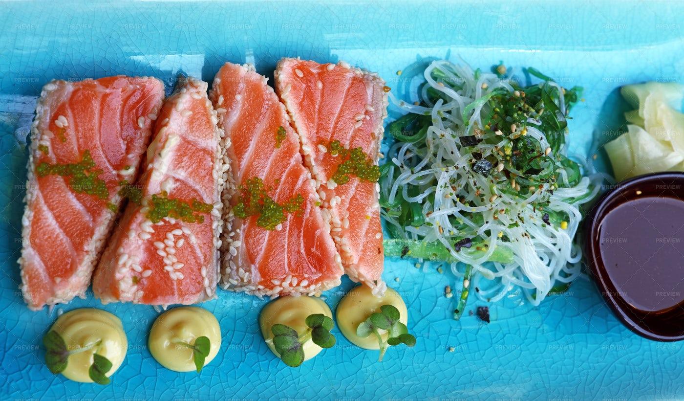 Raw Salmon Sashimi: Stock Photos