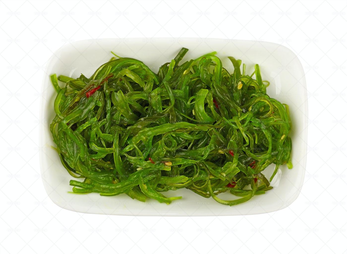 Green Wakame Seaweeds: Stock Photos