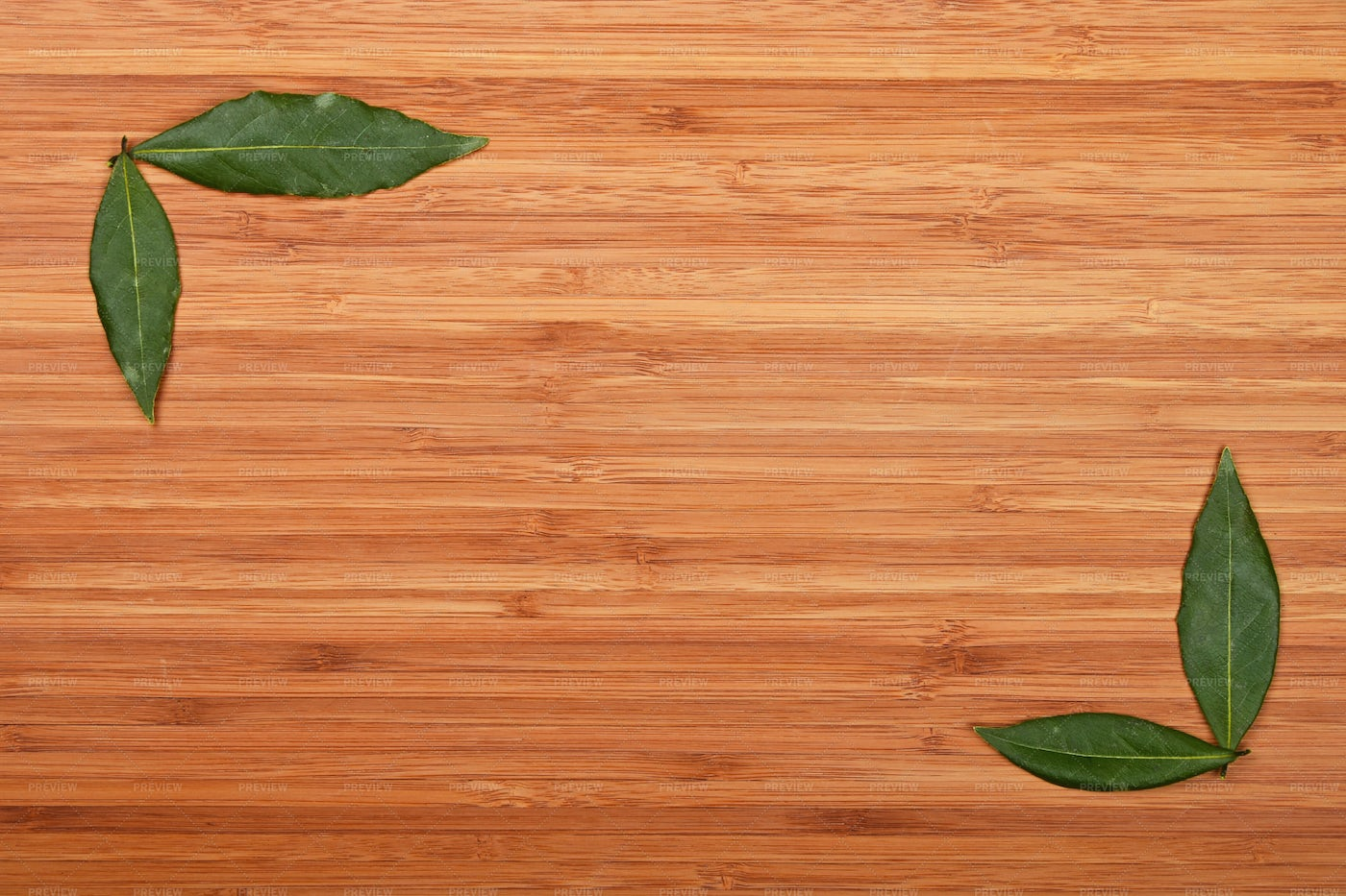 Bay Leaves On Cutting Board: Stock Photos
