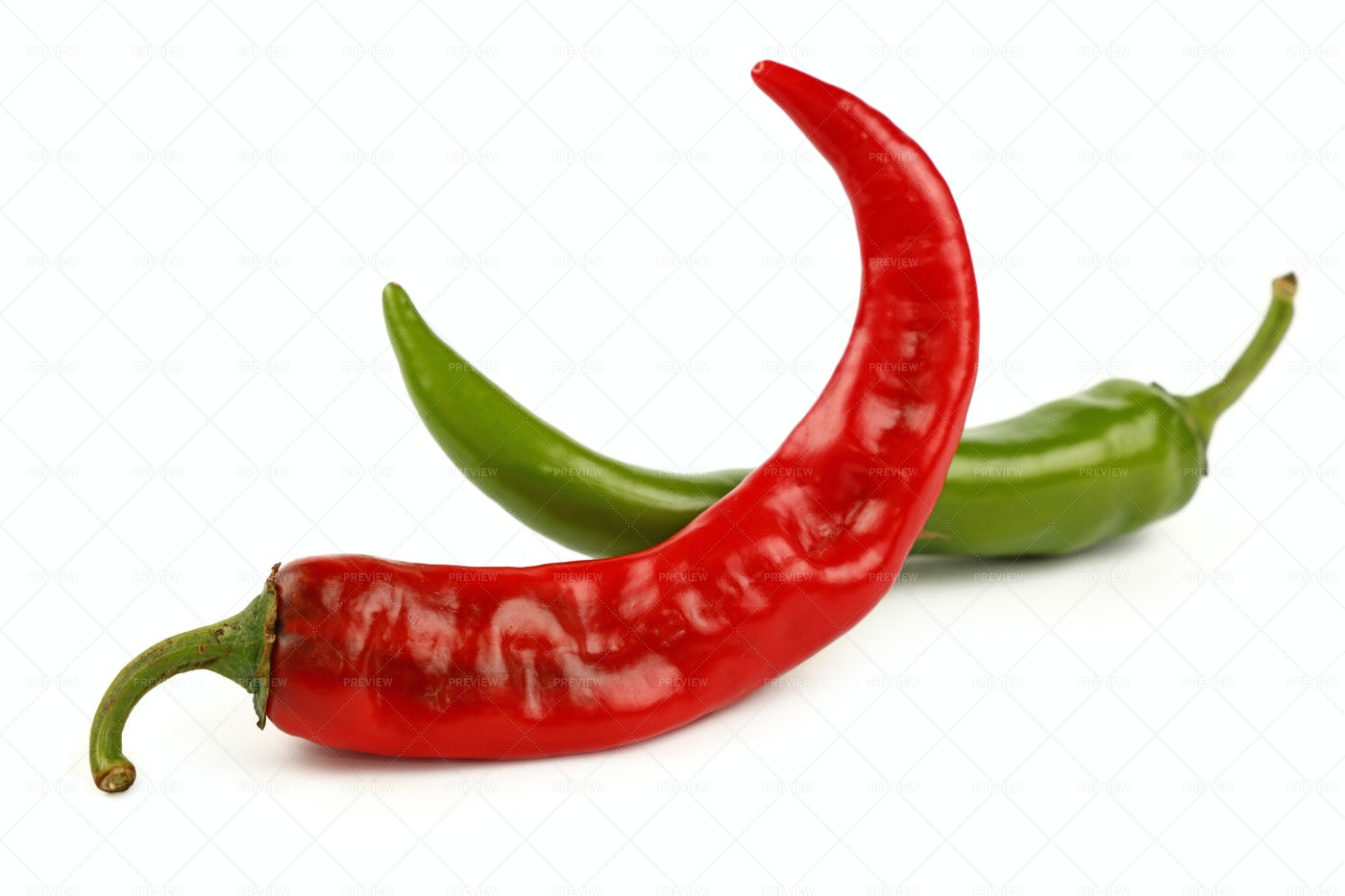 Two Chili Peppers: Stock Photos