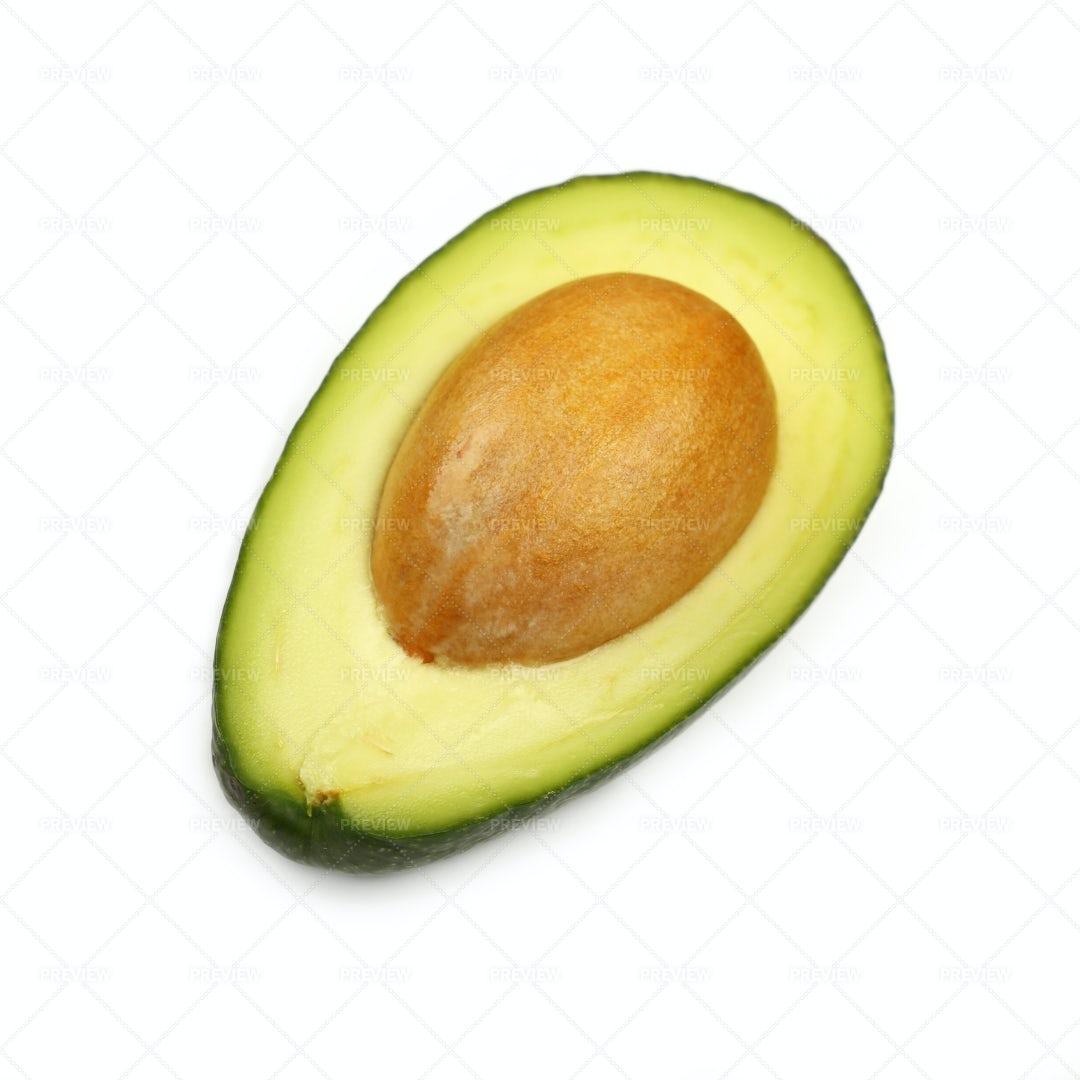 A Halved Avocado: Stock Photos