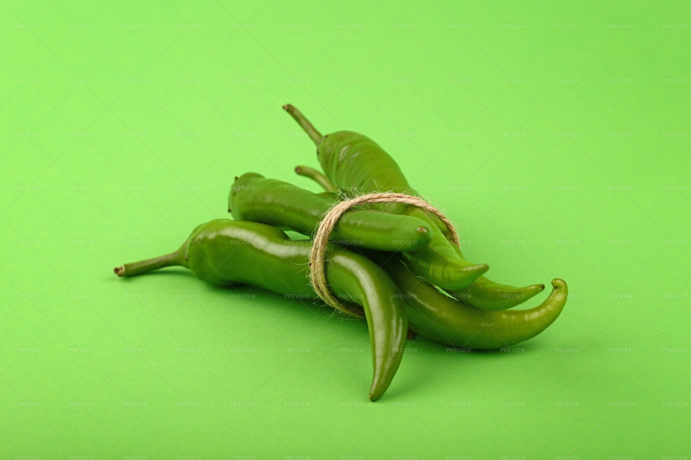 Bunch Of Jalapeno Chili Peppers: Stock Photos