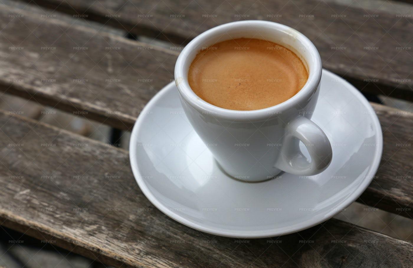 Espresso On The Table: Stock Photos