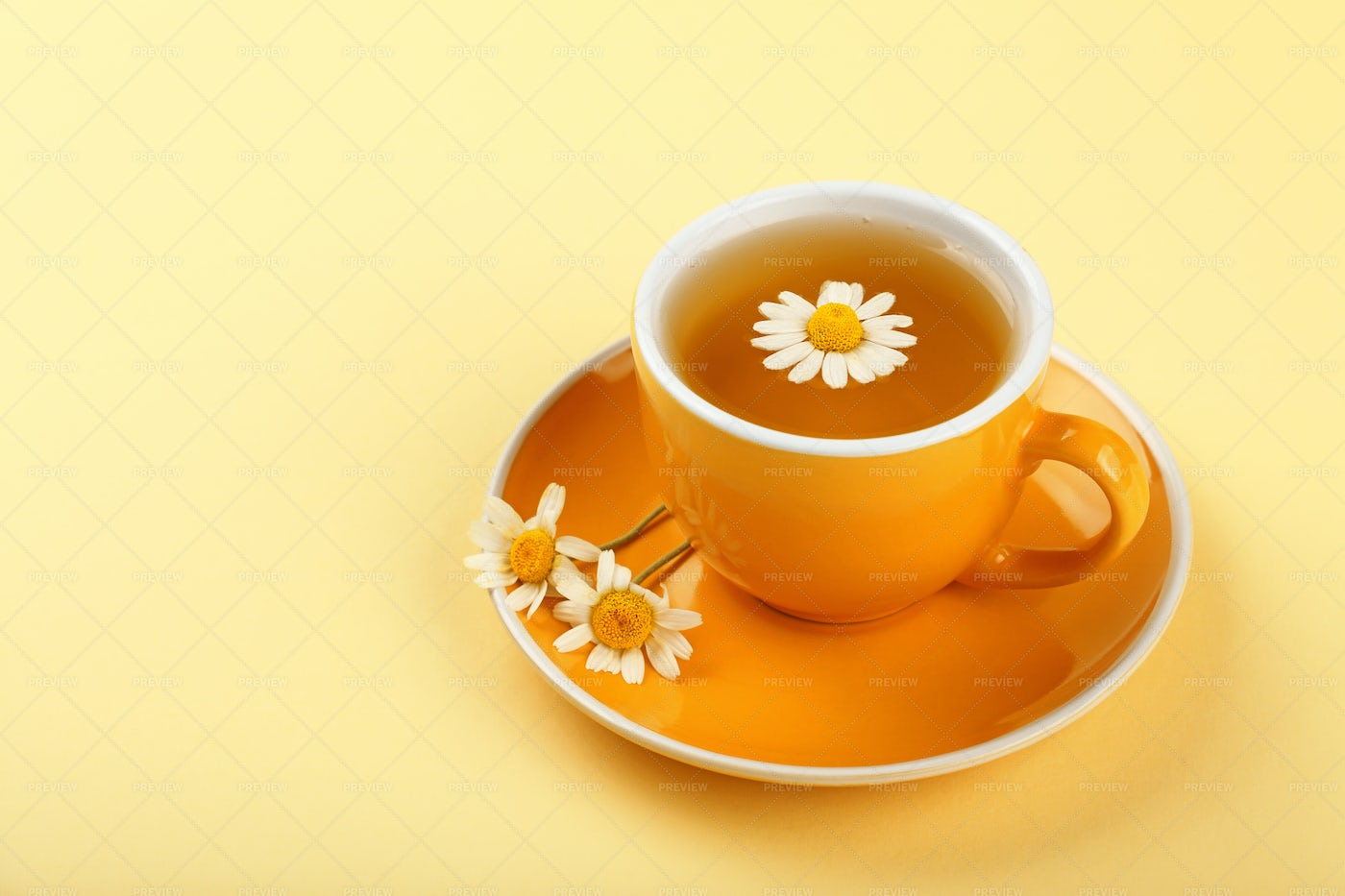 Herbal Tea With Chamomile: Stock Photos