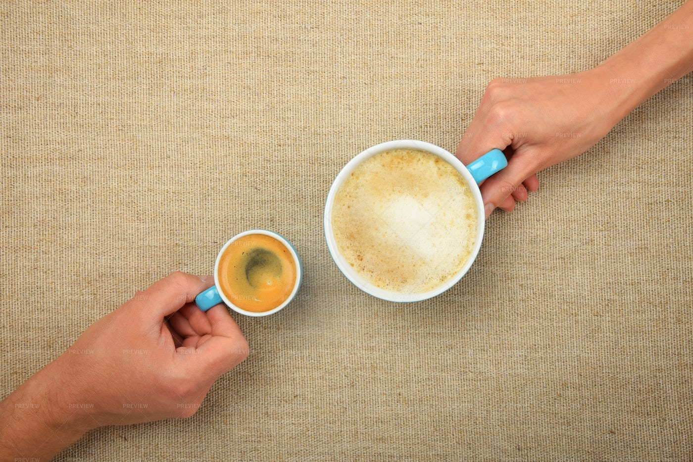 Espresso And Cappuccino: Stock Photos