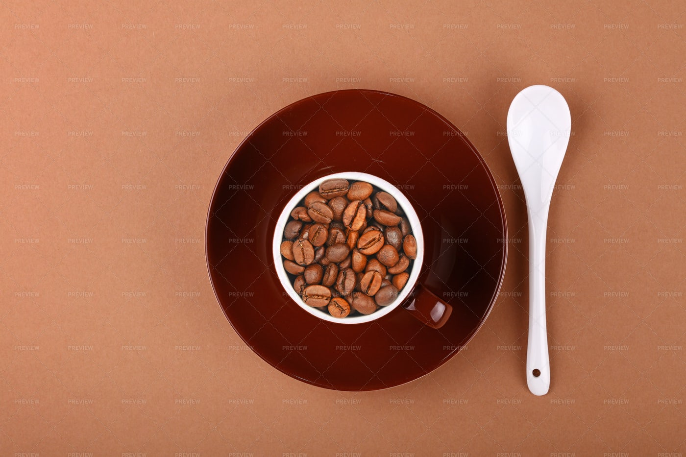 Cup Of Roasted Coffee Beans: Stock Photos