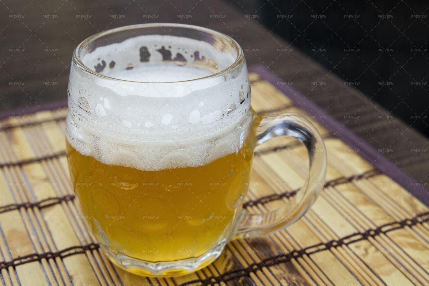 Glass Mug Of Wheat Beer: Stock Photos