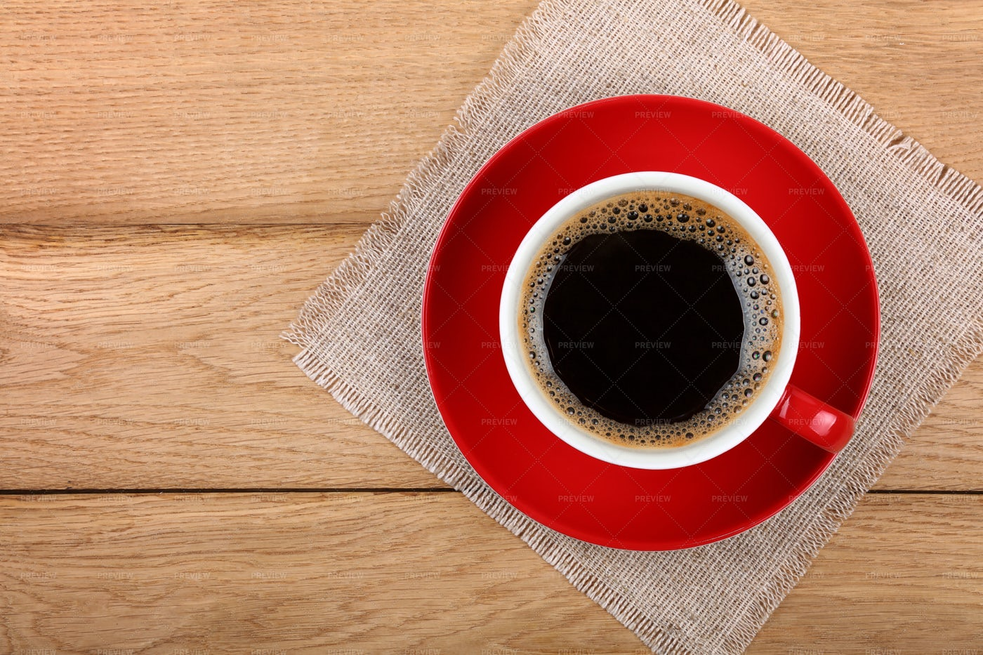 Red Coffee Cup Background: Stock Photos