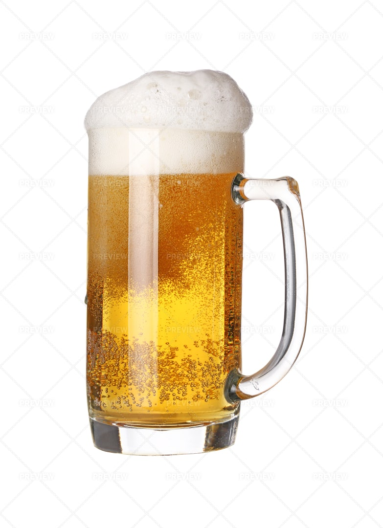 Glass Mug With Beer: Stock Photos