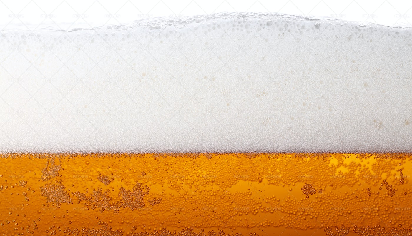 Beer With Froth: Stock Photos