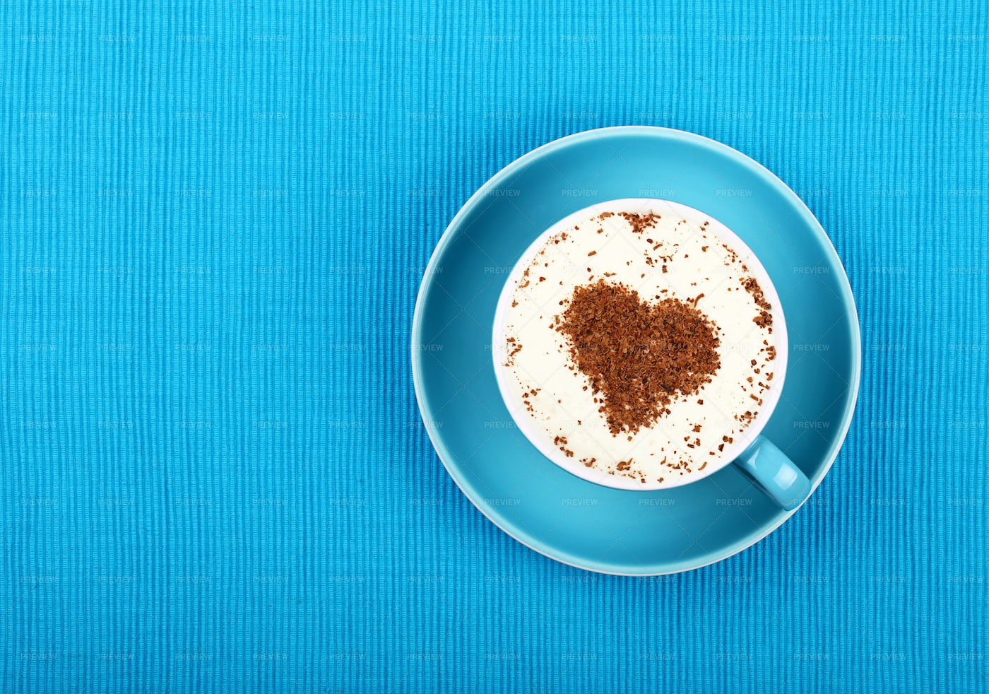 Cappuccino Coffee With Heart: Stock Photos