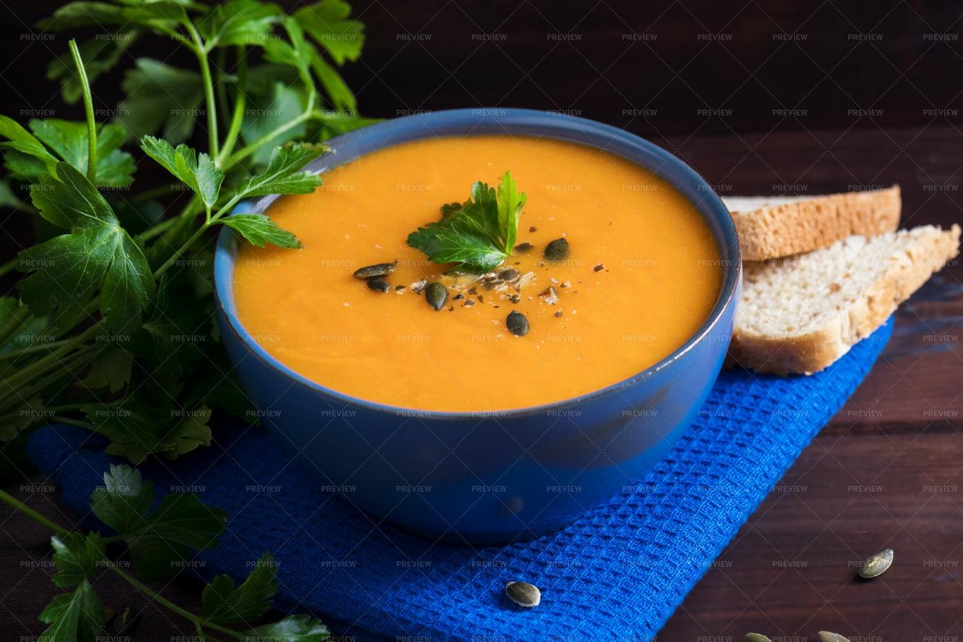 Soup In A Bowl: Stock Photos