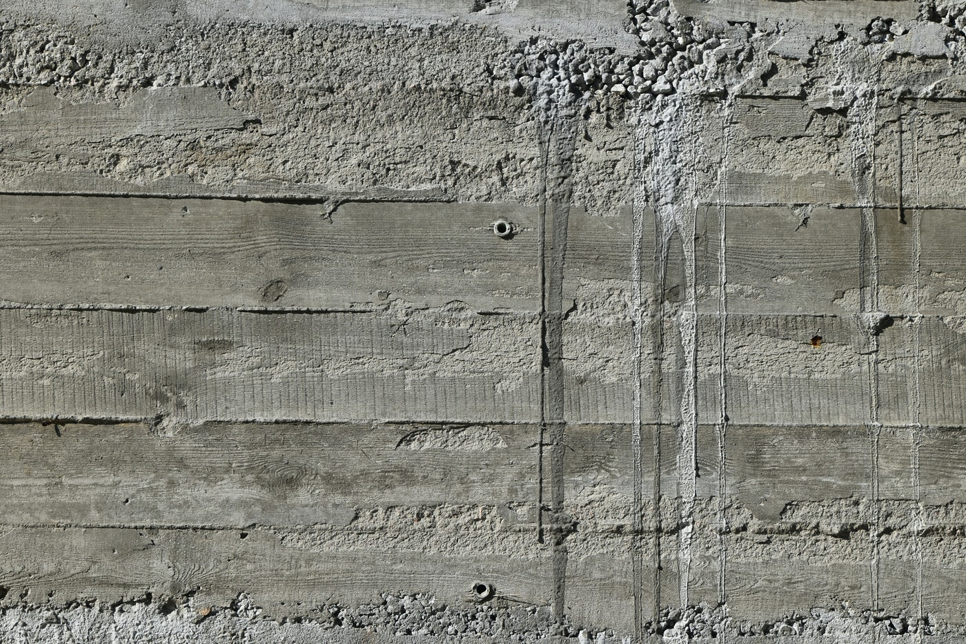 Concrete Wall With Wood Pattern: Stock Photos