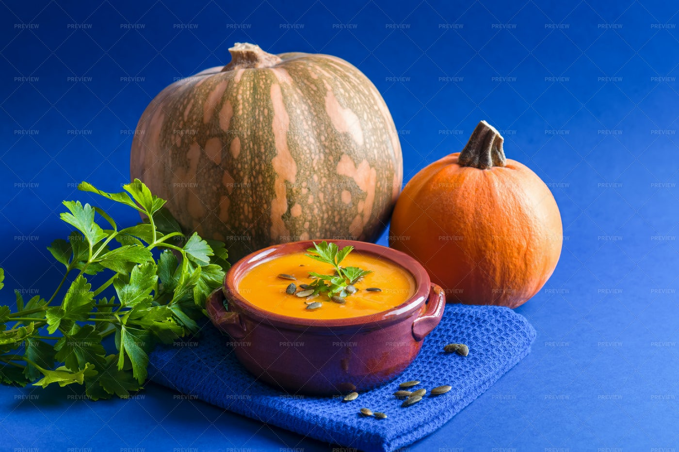 Pumpkin Soup: Stock Photos
