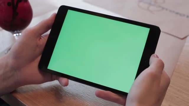 Tapping On Tablet PC: Stock Video