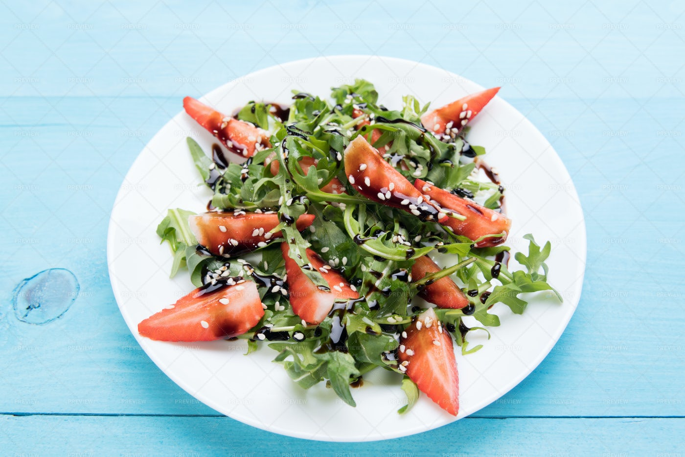 Arugula Salad With Strawberries: Stock Photos