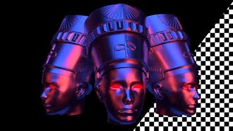 Nefertiti Heads VJ Loop: Motion Graphics