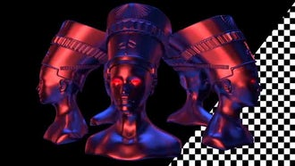 5 Nefertiti Heads VJ Loop: Motion Graphics
