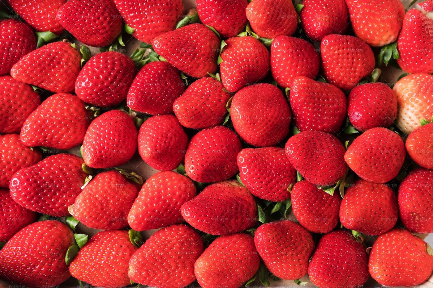 Strawberries Background: Stock Photos