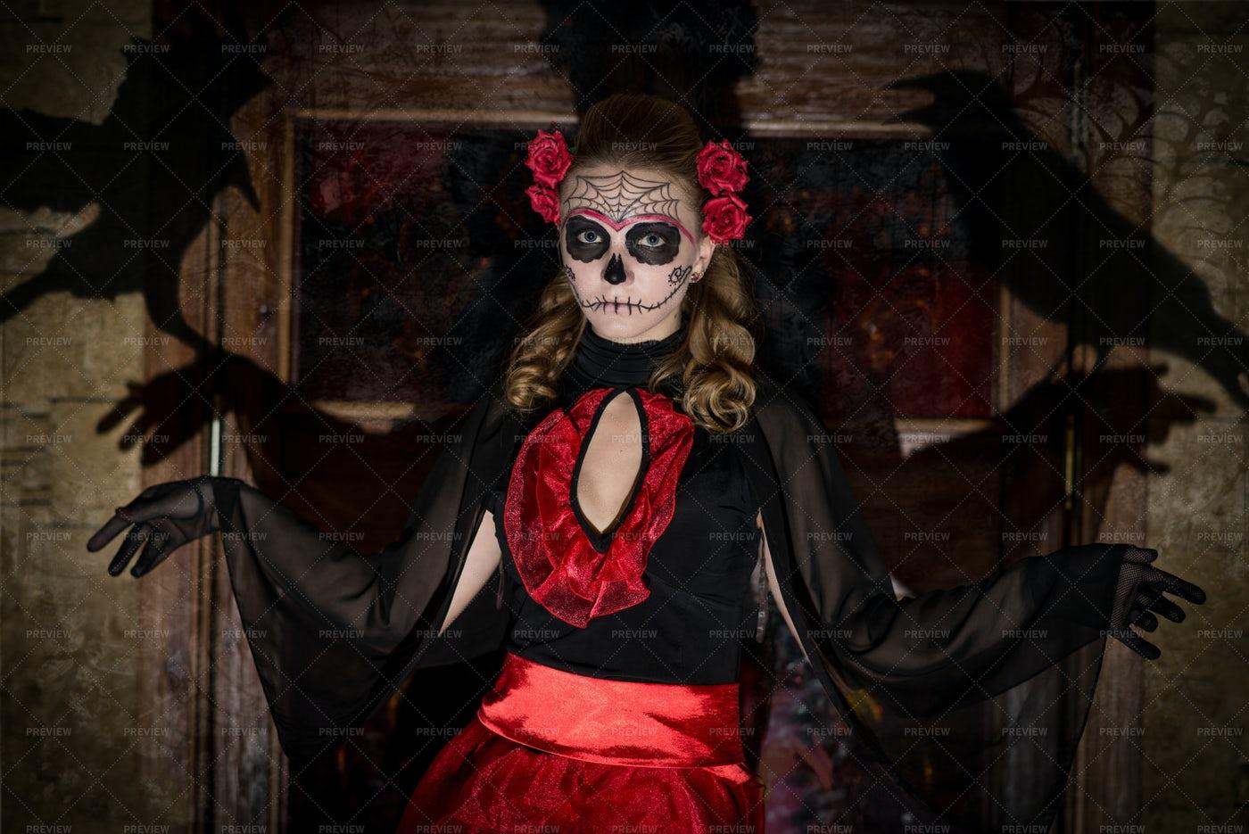 Halloween Costume Portrait: Stock Photos