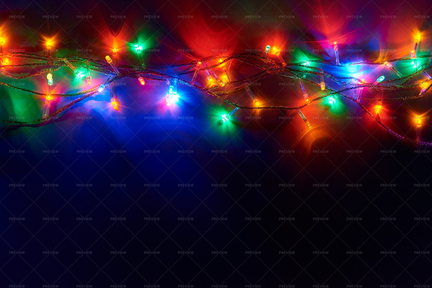 Night Christmas Lights: Stock Photos