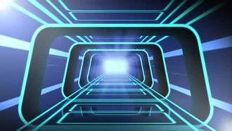 Tron Tunnel: Motion Graphics